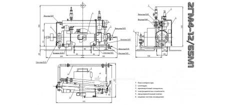 Компрессор поршневой газовый 2ГМ4-12/65М1